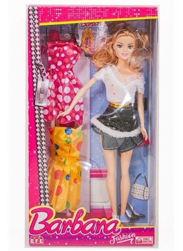 Efe Efe Oyuncak Barbara Yedek Kıyafetli Fashion Bebek Renkli